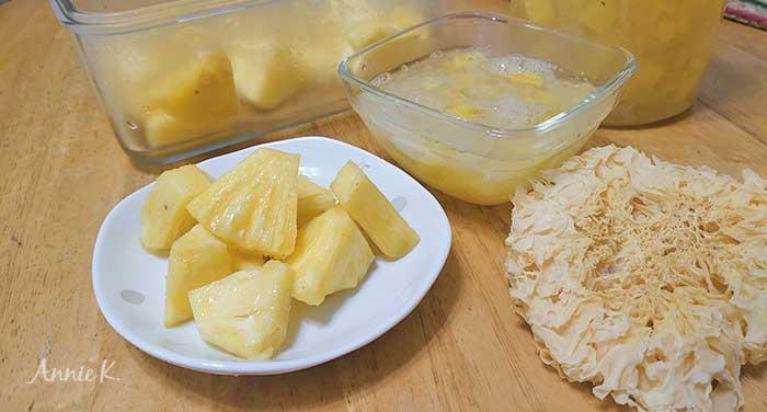 鳳梨太酸怎麼辦呢?來煮個白木耳吧!