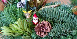 去上花藝課:學做 耶誕花圈 和 耶誕樹