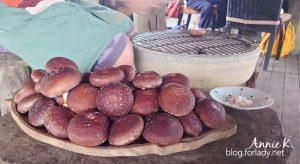 烹調從部落帶下來的新鮮香菇